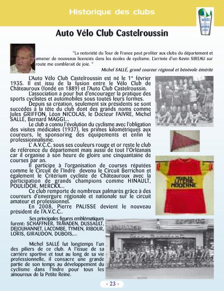 Le cyclisme dans l'Indre - Sports collection - Extrait