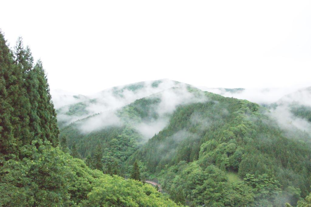 民宿より見る山並み風景 -15