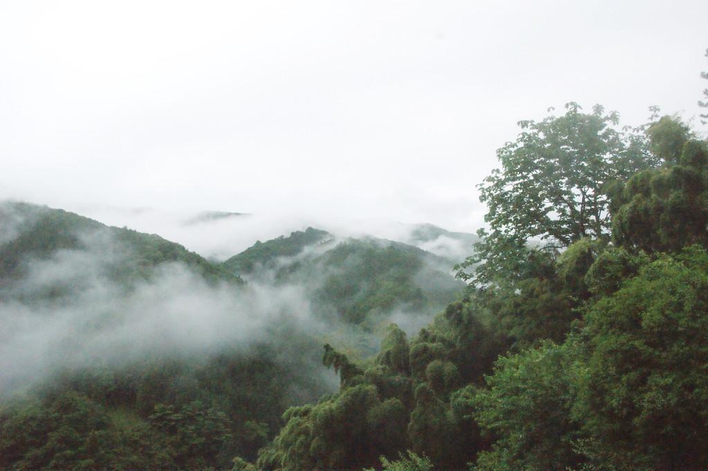 民宿より見る山並み風景 -10