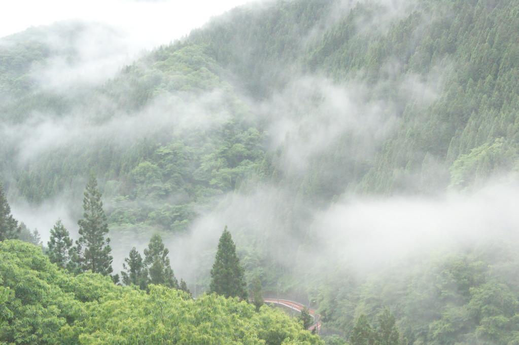 民宿より見る山並み風景 -8