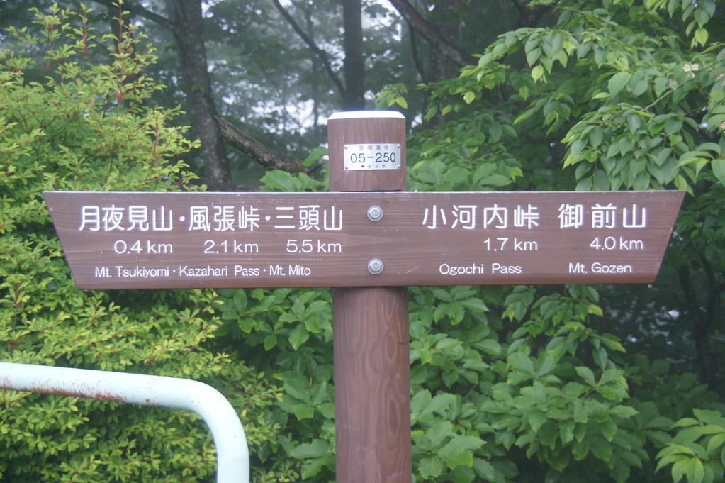 ハイキングの道標