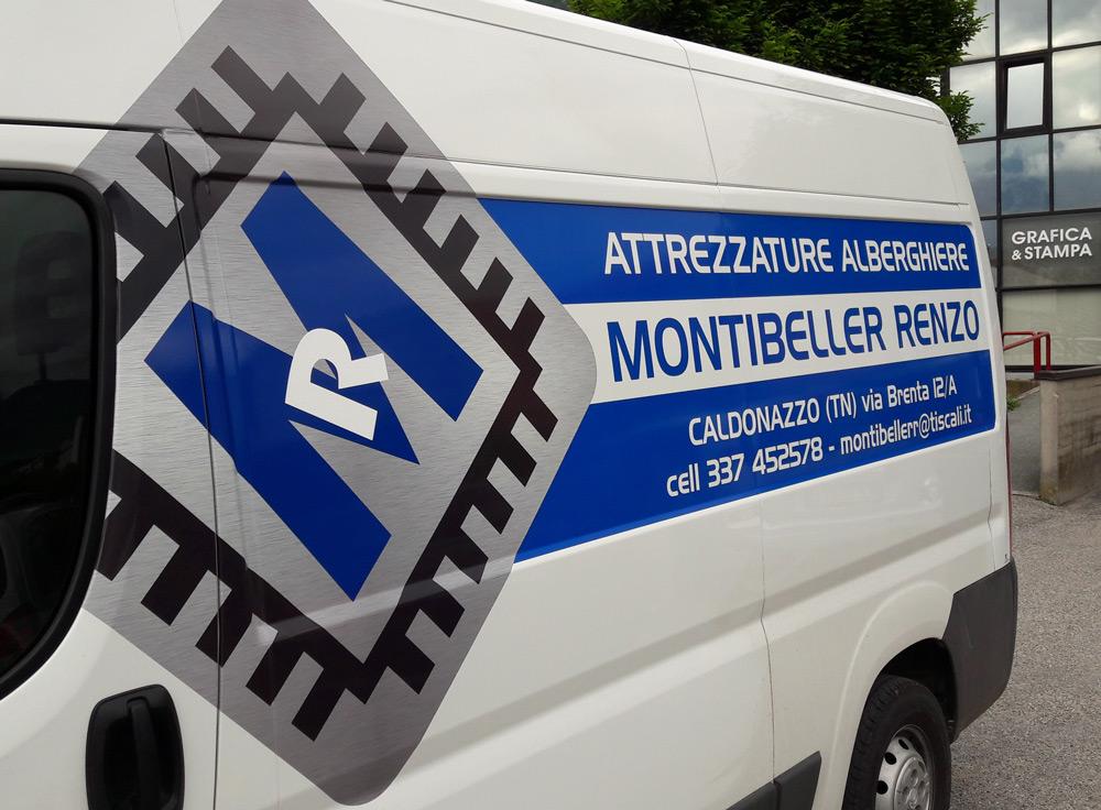 Personalizzazione furgone con adesivo cast