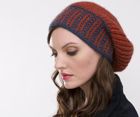 FISHERMAN'S RIB SLOUCHY HAT - Carolyn Noyes