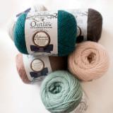 Strickwolle aus Alpaka, Wolle und Possum aus Neuseeland, Bohemia Worsted, der Marke Outlaw Yarn