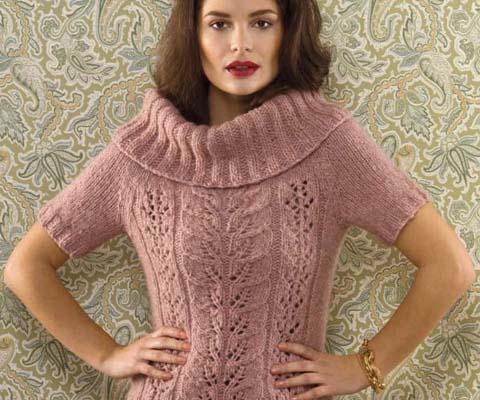 Titelbild- Pullover aus 5-7 Knäuel TUI in Farbe T7 Pink