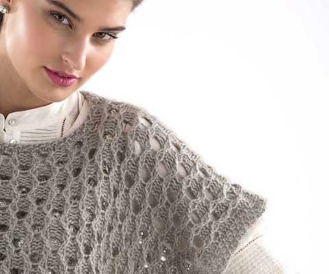EYELET PONCHETTE- Designed by Vanessa Putt