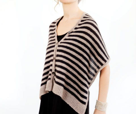 STRIPED SHAWL- Designed by Laura Maller
