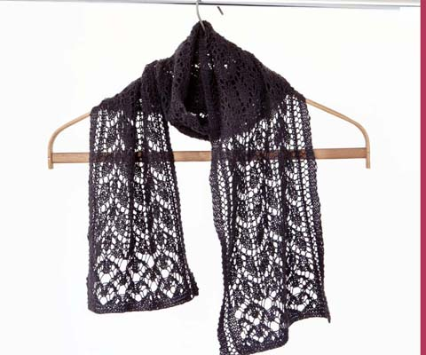 LACE SCARF- Designed by Zabeth Loisel Weiner