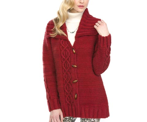 COZY CABLED COAT - Deborah Newton