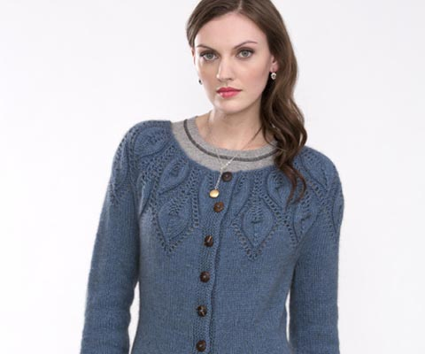 LEAF YOKE CARDIGAN - Ashley Rao