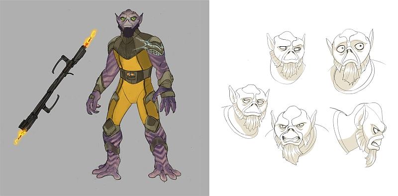 Zeb Orrelios Charakter Illustration
