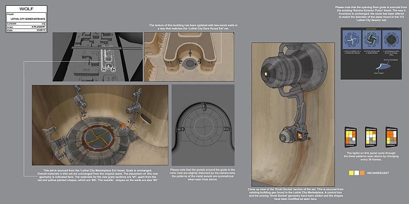 Lothal Kanalisationszugang lllustration von Kilian Plunkett
