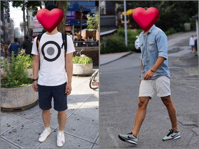 夏ディズニーへ行く時の男性ファッション