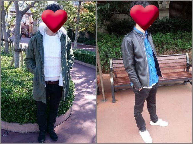 冬ディズニーへ行く時の男性ファッション