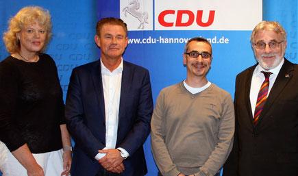 Silke Seidel, Dirk Häusler, Senol Uygur und Helmut Busjahn (Quelle: CDU Ov Garbsen)