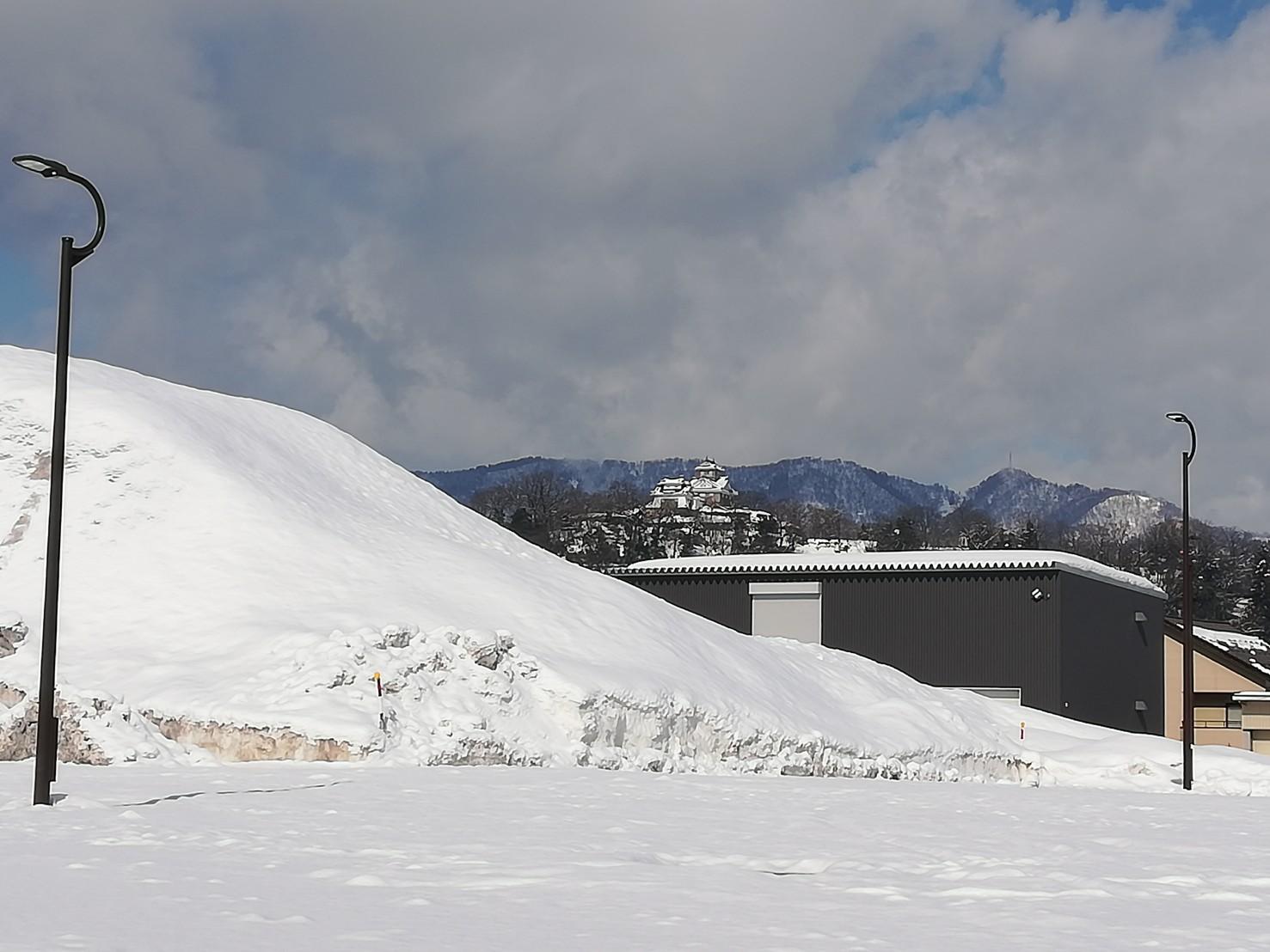 大野市雪景色