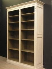 7.  Volledig open bbibliotheekkast, op maat, 2 verschillende kleuren