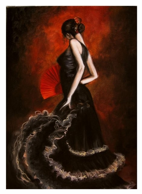 """Flamenco, 2005"" 25 x 35 cm."