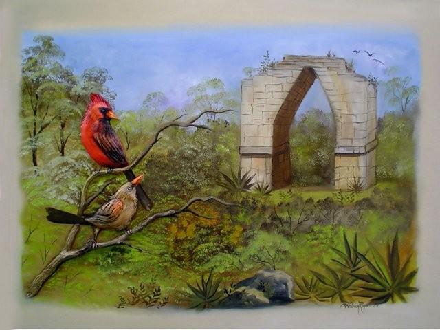 """""""Arco de Kabah, 2005"""" 50 x 70 cm."""