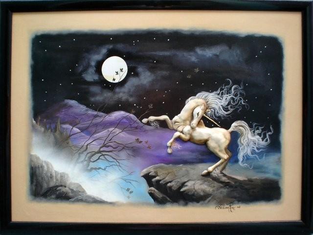 """""""Unicornio, 2005"""" 50 x 70 cm."""
