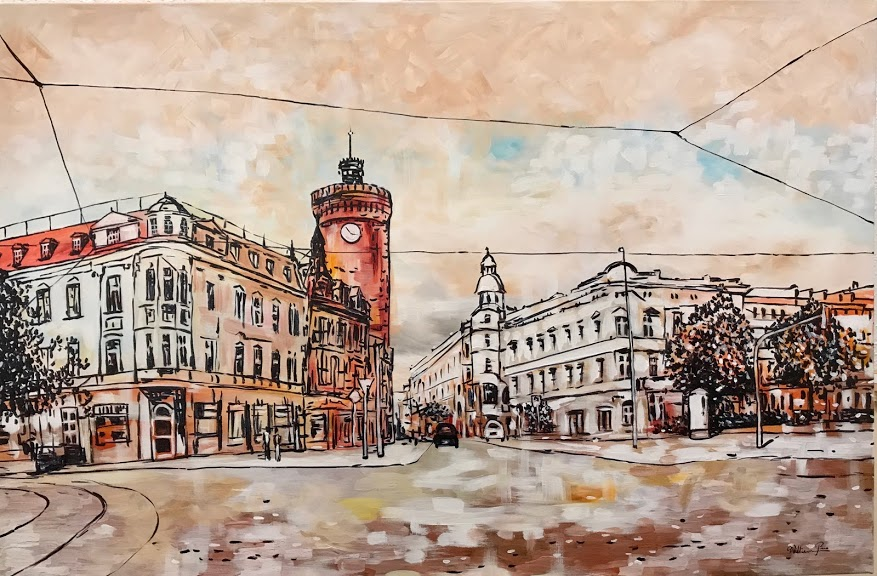 """Spremberger Straße"" 2019. 120 x 80 cm"