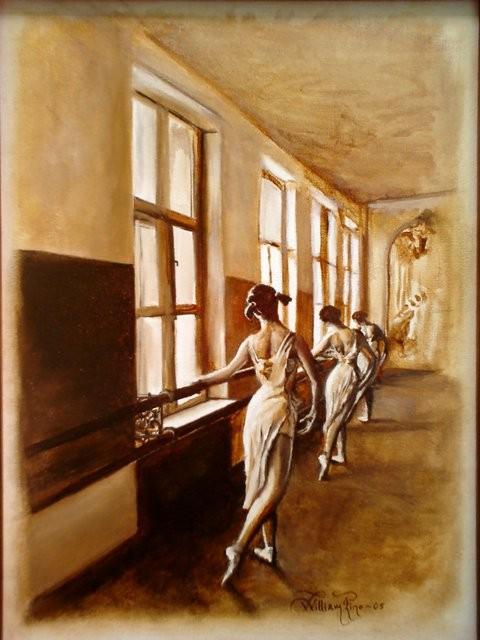 """""""Clase de Ballet, 2005"""" 30 x 40 cm."""