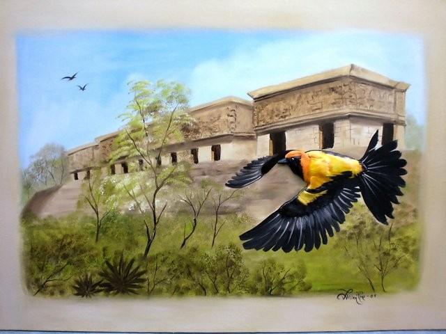 """""""Palacio del Gobernador, Uxmal, 2005"""" 50 x 70 cm."""