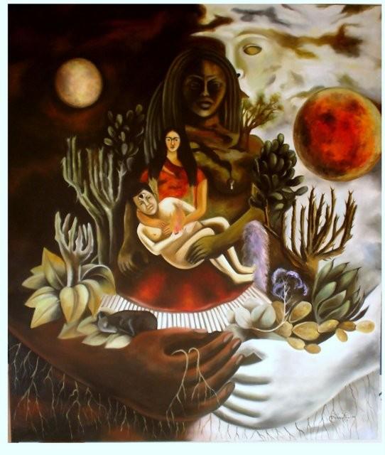 """""""Réplica Kahlo, 2006"""" 80 x 120 cm."""