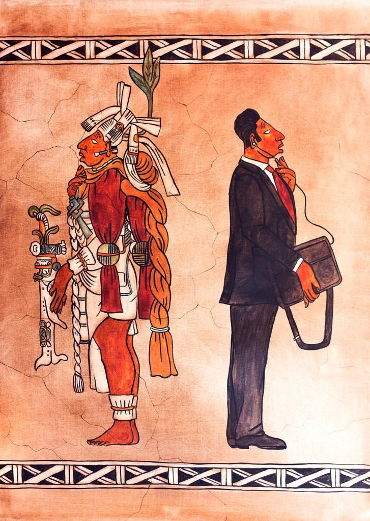 -Tatich- El gran señor. Der bedeutende Herr. 90 x 60 cm. 2013. Mischtechnik auf Leinwand