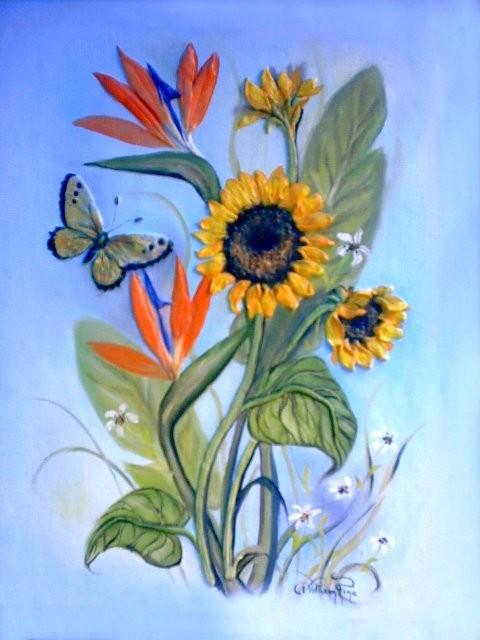 """Girasol, 2004"" 30 x 40 cm."