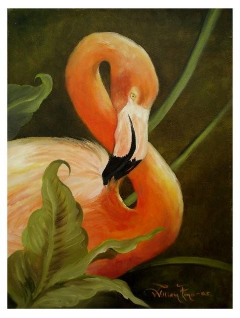 """""""Flamingo Rosa, 2005"""" 35 x 45 cm"""