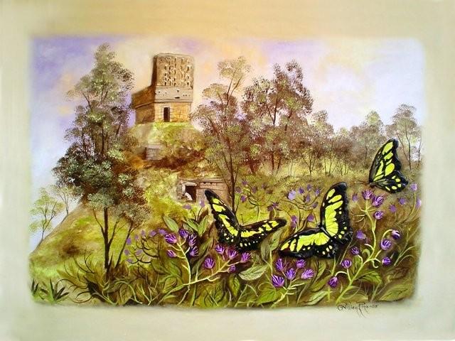 """""""El Mirador de Labná, 2005"""" 50 x 70 cm."""