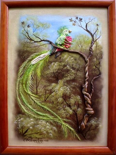 """Quetzal, 2005"" 20 x 30 cm."