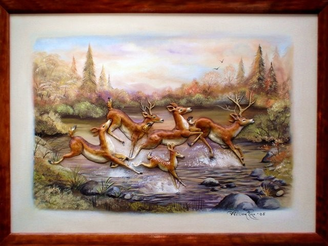 """Venados, 2005"" 50 x 70 cm."