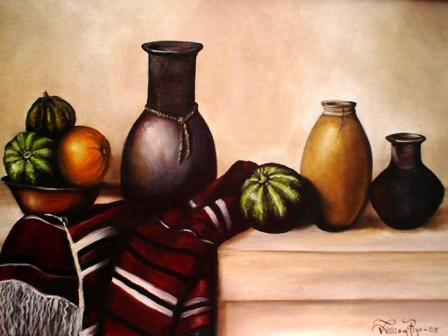 """""""Bodegón Mexicano, 2005"""" 40 x 60 cm."""