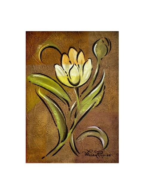 """Tulipán, 2006"" 25 x 30 cm."