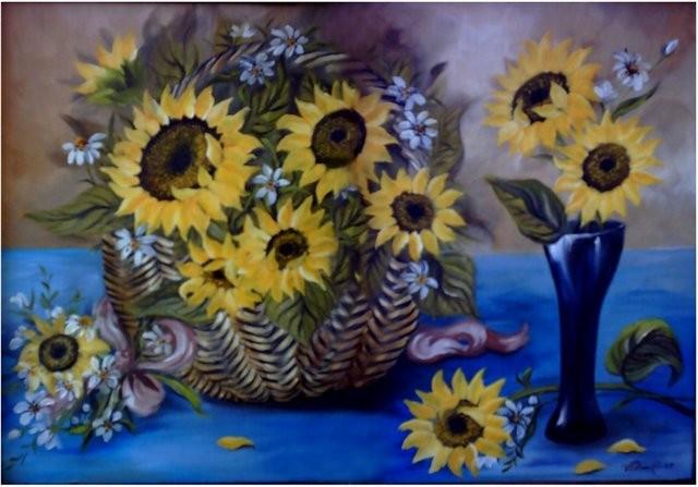 """Girsoles Frescos, 2006"" 30 x 40 cm."