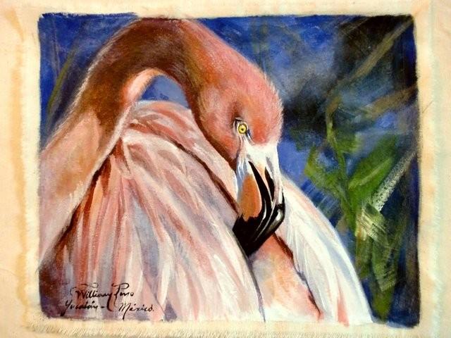 """""""Flamingo, 2011"""" 20 x 30 cm."""