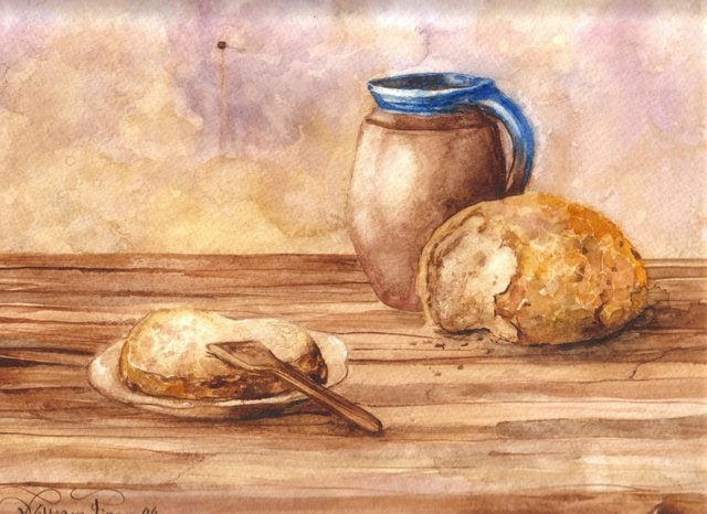 """Pan y Chocolate, 2006"" 25 x 35 cm."