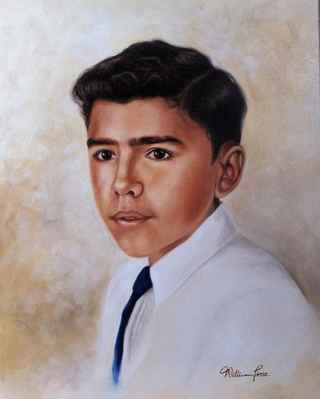 Retrato de un joven 40 x 50 cm. Óleo sobre tela