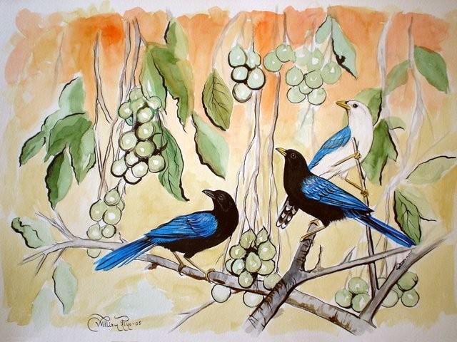 """Huayas / Mamoncillos, 2005"" 40 x 50 cm."