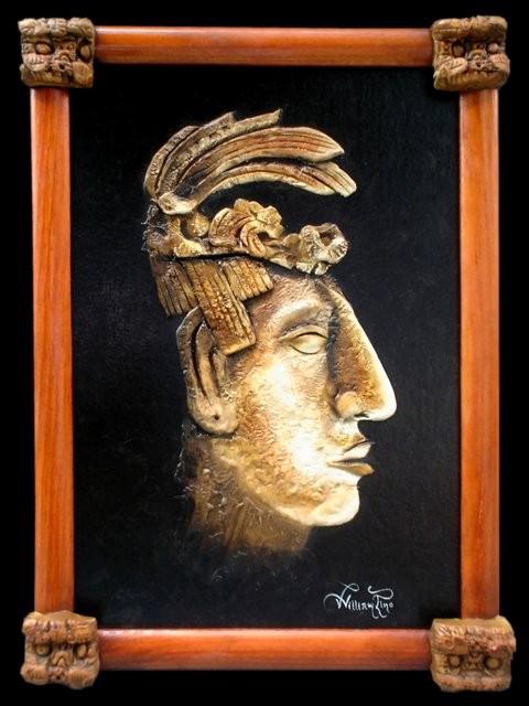 """Cabeza Maya, 2007"" 25 x 30 cm."