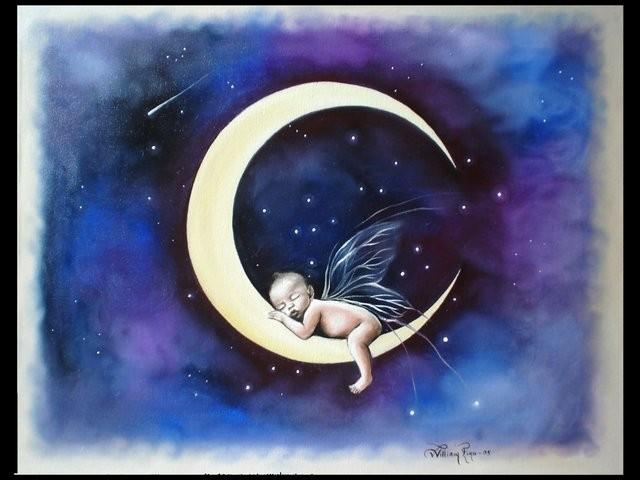 """""""Hijo de la Luna, 2005"""" 30 x 40 cm"""