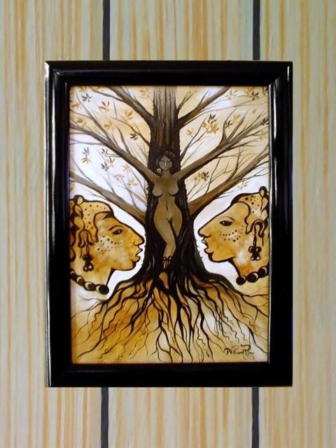 """La xtabay, 2004. 30 x 40 cm"