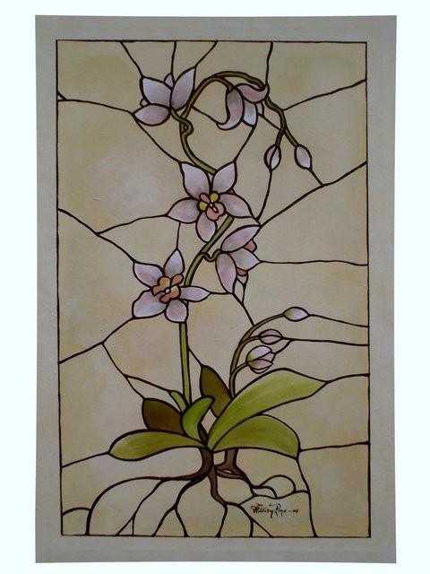 """Orquídea Vitral, 2006"" 30 x 40 cm."