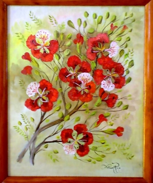 """""""Flamboyán, 2004"""" 30 x 40 cm"""