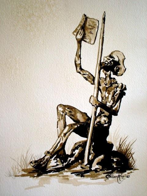 """Don Quijote, 2005"" 20 x 30 cm."