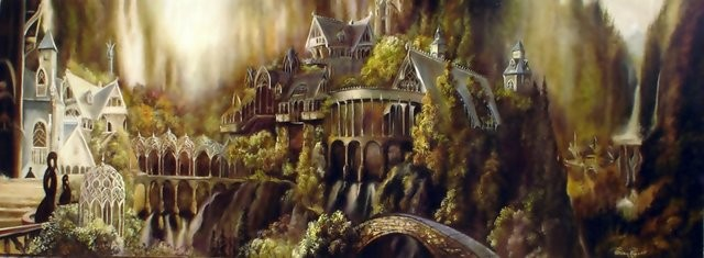 """Panorama Rivendell, 2005"" 120 x 40 cm"