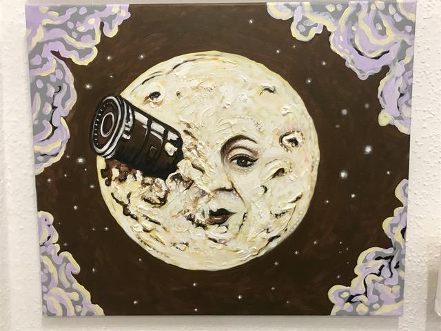 """""""Le Voyage dans la Lune"""". 2017. 60 x 50 cm"""