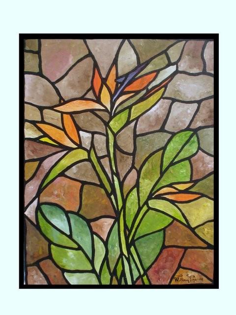 """""""Aves de Paraíso, 2006"""" 50 x 70 cm."""